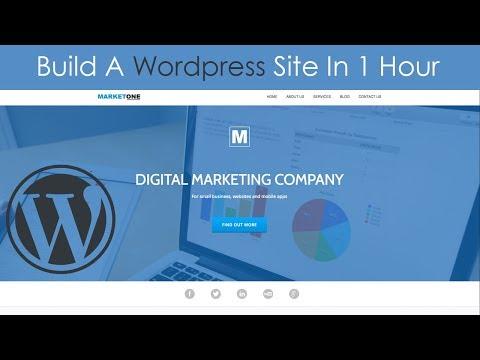 Build a Wordpress Website In 1 Hour