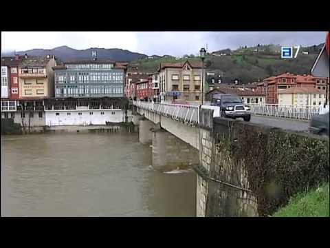 Asturias eleva el nivel de alerta ante las inundaciones y desbordamientos de ríos 19-01-2013.