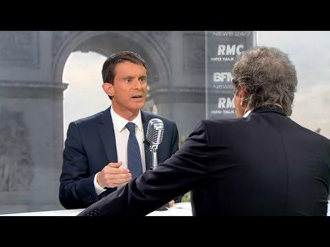 """Manuel Valls sur BFMTV: """"Je ne suis pas dans un combat contre la CGT"""""""