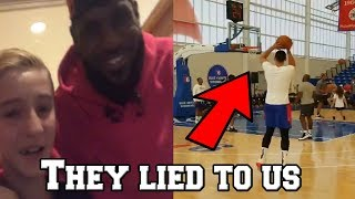 LeBron James MAKES A KID CRY! Ben Simmons LIED TO US ABOUT HIS JUMP SHOT RELEASE!