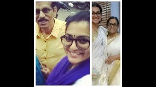 Actress Parvathy Menon with  Family // പാർവതി