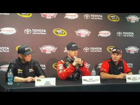 Carl Edwards on last lap pass for win at Richmond