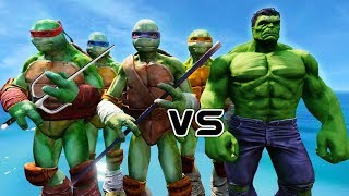 Teenage Mutant Ninja Turtles VS Hulk - EPIC BATTLE