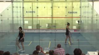 Squash European Individuals Semifinals: Camille Serme (FRA) vs. Nele Gilis (Bel) - game1