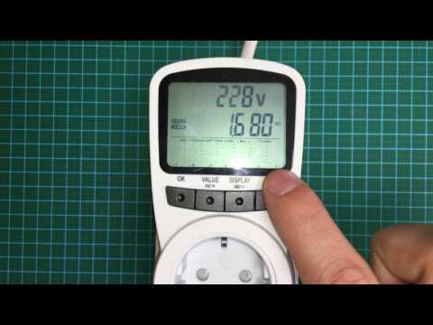 Портативный Счетчик Электроэнергии TS-1500 (ваттметр бытовой) – Измеряем потребление электроприборов