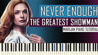 How To Play: The Greatest Showman - Never Enough | Piano Tutorial + Sheets