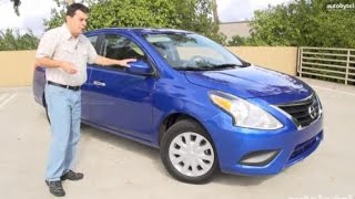 Least Expensive Family Car in America - 2015 Nissan Versa Test Drive Video Review