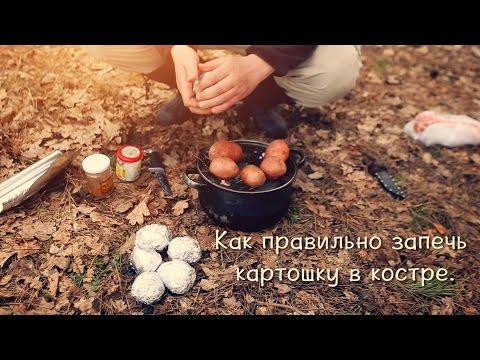 Как запечь картошку в костре.