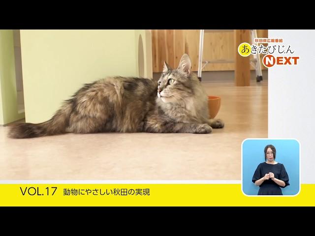 あきたびじょんNEXT 2019 VOL.17「動物にやさしい秋田の実現」