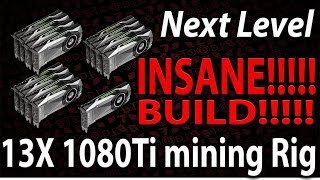Live Episode #42 INSANE 13x 1080Ti Build mining rig | Bitcoin Hardfork, now what?