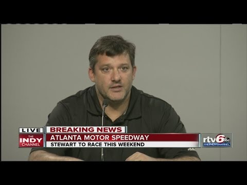 Tony Stewart talks about return to racing