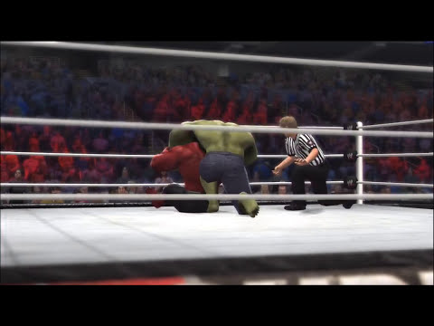 HULK VS Red HULK - WWE 2K14 - I Quit Match - AI vs AI -  MarcusGarlick