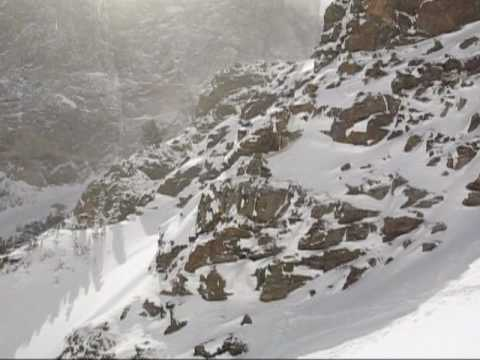 Backcountry Skiing the Dead Elk Couloir in Rocky Mountain National Park with ClimbingLife Guides