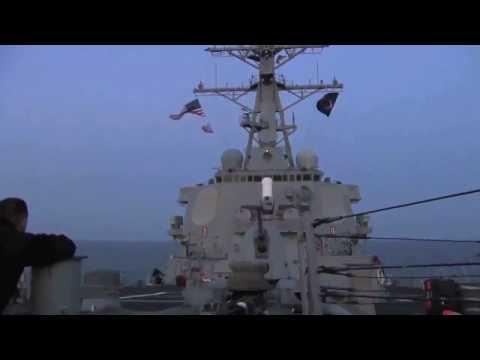 Запуск Томагавк с американского корабля