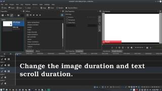 Scroll Effect in Kdenlive video editor.
