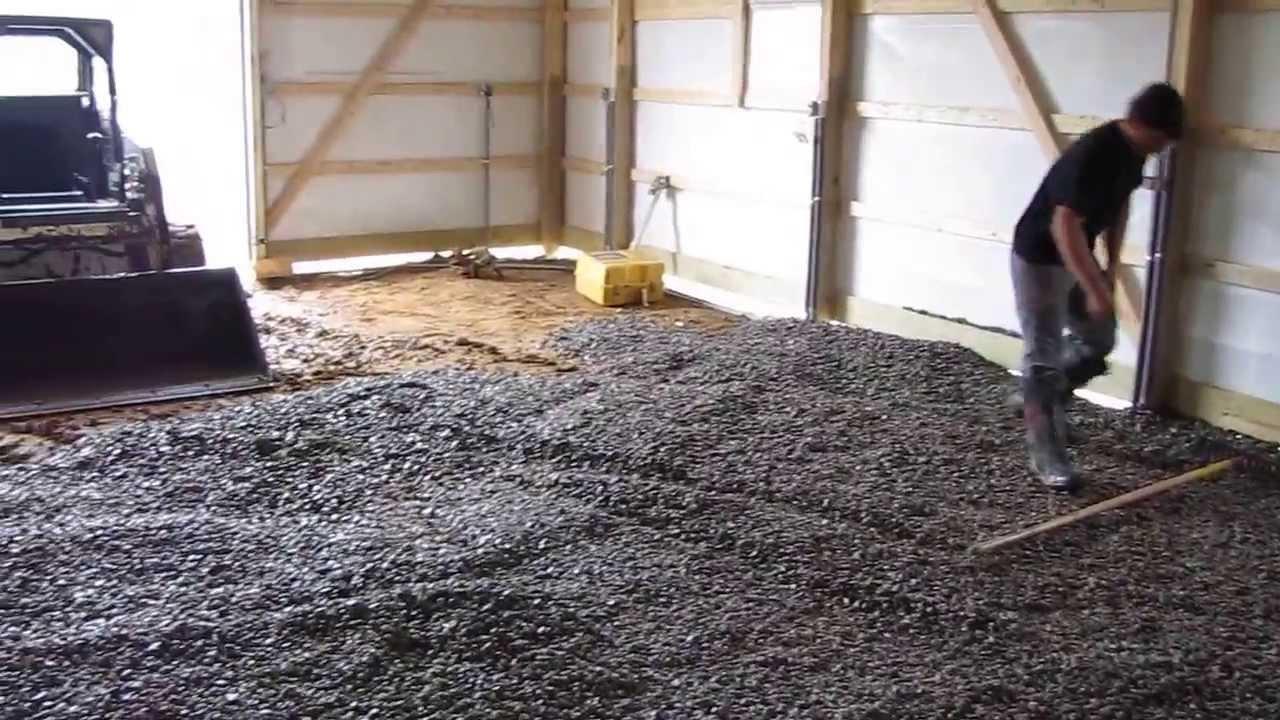 Concrete Pole House : Cha pole barns concrete time part by kvusmc youtube