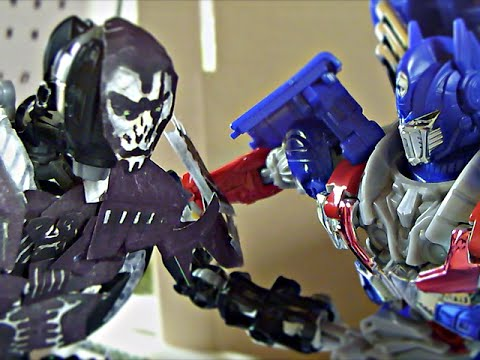 Transformers Age of Extinction Stop Motion: Optimus Prime VS Lockdown-The Final Battle