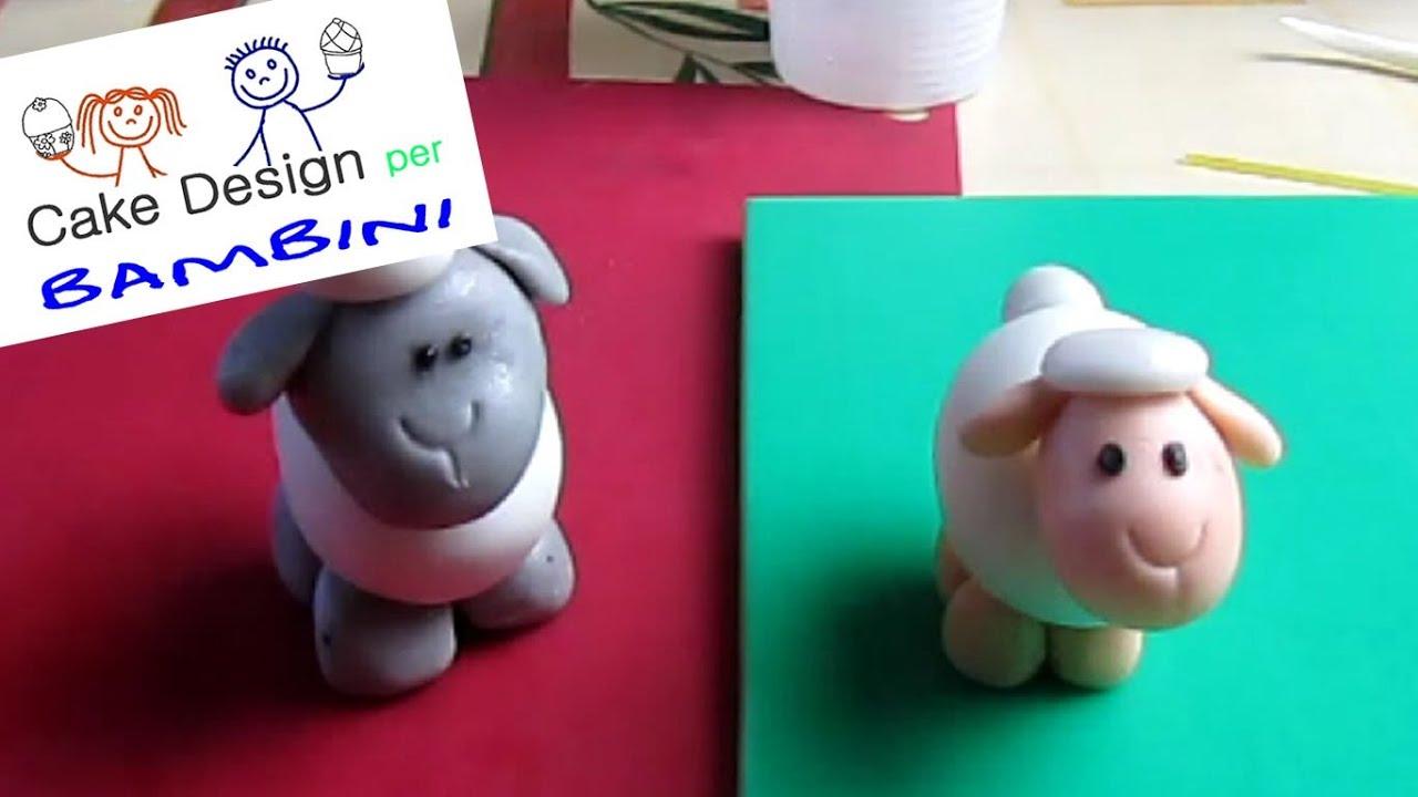 Cake Design Bambini Milano : Pecorella in pasta di zucchero Cake Design per Bambini ...