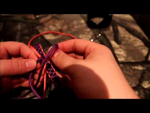 Paracord Cancer ribbon tutorial!