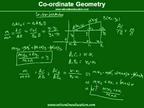 section formula in coordinate geometry - YouTube