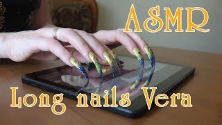 ASMR sounds scratching tapping tablet with my Long Nails