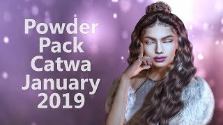 Powder Pack Catwa January 2019 - Unboxing Video - Second Life Subscription Box