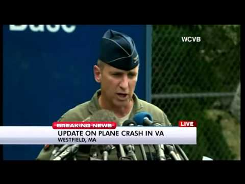 Military news conference on F-15 crash in Virginia