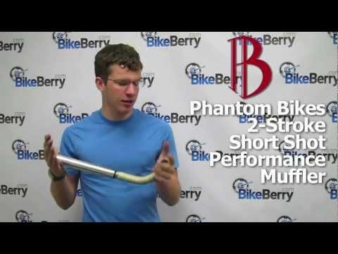 Product Review: Phantom Bikes 2-Stroke Short Shot Exhaust for Motorized Bike by BikeBerrycom