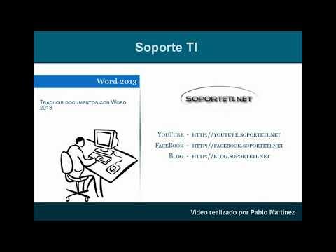 Word 2013 - Traduciendo documentos