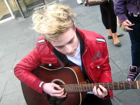 John Grimes (Jedward) Playing The Guitar To Us x