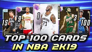 TOP 100 BEST CARDS THAT YOU CAN BUY IN NBA 2K19 MyTEAM!!