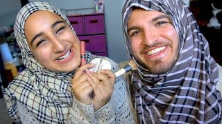 SISTER DOES MY MAKEUP!!