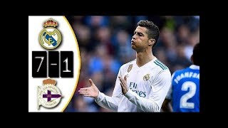 Real Madrid 7-1 Deportivo | All Goals | COPE | Liga 2017/2018