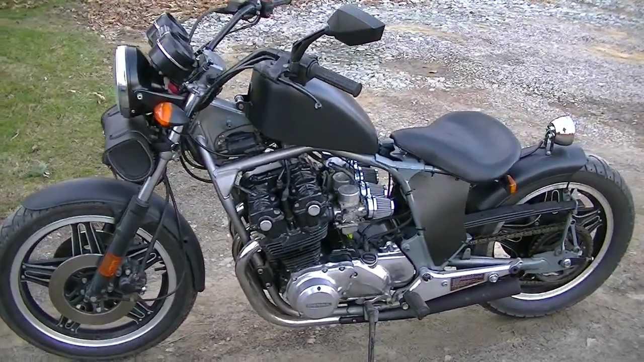 Honda CB750 Bobber, Leaf Spring Suspension - YouTube