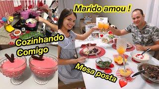 NIVER DO MARIDO: JANTAR ROMÂNTICO | SOBREMESA PRESENTES