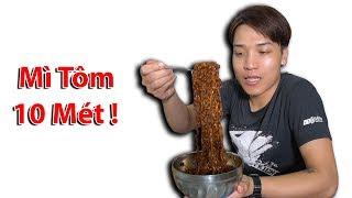 NTN - Thử  Ăn Mì Tôm 10M Dài Nhất Thế Giới ( Long Noodles 10M )
