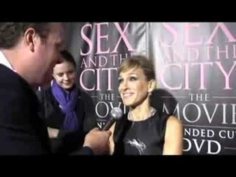 Sarah Jessica Parker is awkwardly interviewed by Brad Blanks