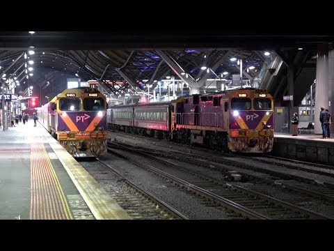 4K V/Line Trains Evening Long Distance Departure Trains - With Traditional Names