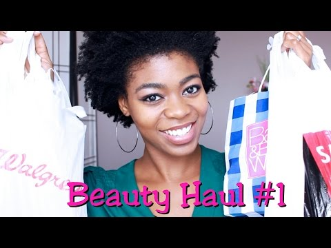 Beauty Haul #1 - Sally's. Target. Walgreens. Bath & Body Works etc.- NaturalMe4C- 4C Natural Hair