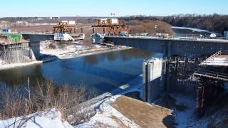 Fairway Road Grand River Bridge segmental construction time-lapse video