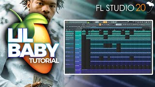 How To Create A Lil Baby Type Beat On FL Studio 2019 | Guitar Trap Tutorial