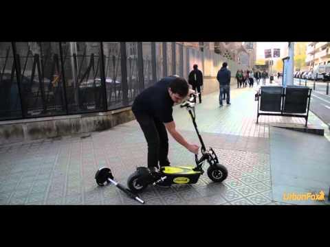 Patinete eléctrico Urban Fox | demostración Barcelona | tecnocio.com