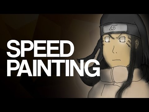 Speed Painting - Naruto Neji Hyuga (using Bamboo Tablet) video