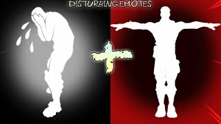 Fortnite EMOTES that Look SCARY in SLO MO....(Disturbing)