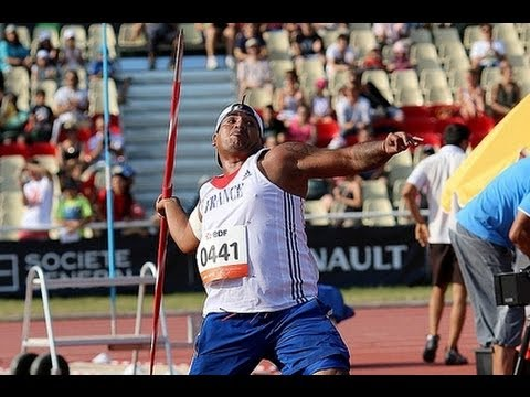 Athletics - Tony Falelavaki - Men's Javelin Throw F Final - Ipc Athletics World C...
