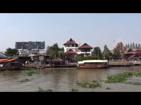 Thailand – Mae Nam Chao Phraya River – Wat Chong-lom Pier to Si Phraya HD (2012)