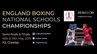 England Boxing National Schools Championships 2019 - Day 1 Ring B