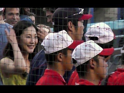 Koji Uehara & Junichi Tazawa Meet Hideo Nomo Japanese Allstars at Dodger Stadium (Yasiel Puig Also)