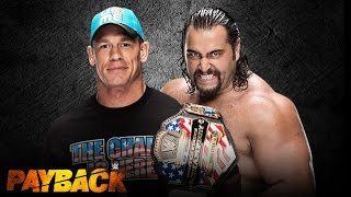 John Cena vs Rusev  - Payback 2015 - I Quit Match - US Championship - WWE 2K14