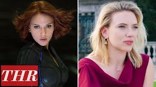 Scarlett Johansson on Black Widow & Bruce Banner's Love Story, Working with Adam Driver & More | THR